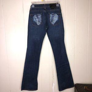 Ed Hardy rhinestones Cats Jeans missing stones